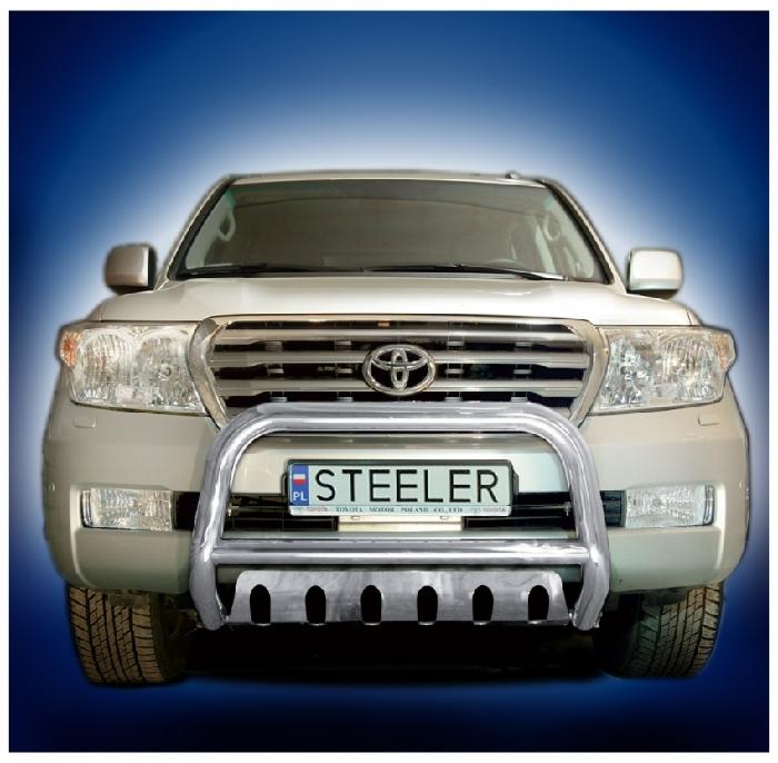 Frontschutzbügel Kuhfänger Bullfänger Toyota Land Cruiser V8/ J20 2008-2012, Steelbar QFU 70mm, schwarz beschichtet