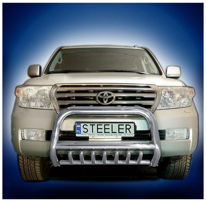 Frontschutzbügel Kuhfänger Bullfänger Toyota Land Cruiser V8/ J20 2008-2012, Steelbar QRU 70mm, schwarz beschichtet