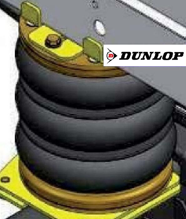 ( LF3) Ersatz- Luftbalg ( Luftfederbalg ) Dunlop 01608 Dreifaltenbalg 170/3 Standard