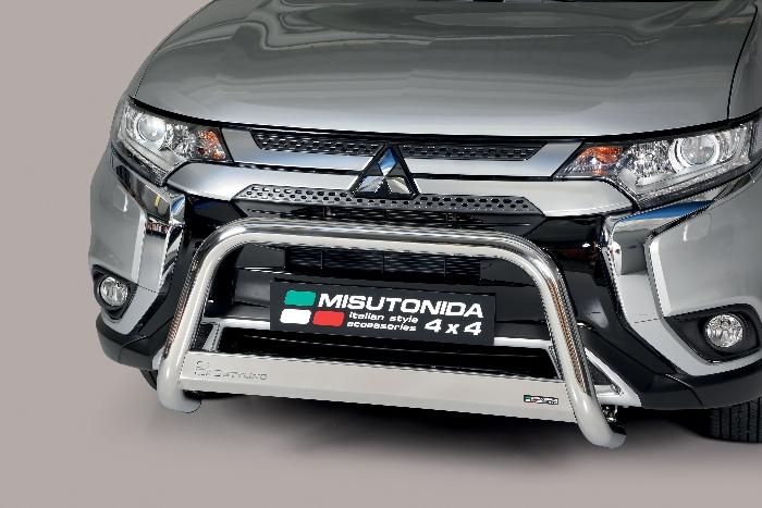 Frontschutzbügel Kuhfänger Bullfänger Mitsubishi Outlander 2020-, Medium Bar 63mm Edelstahl Omologato Inox