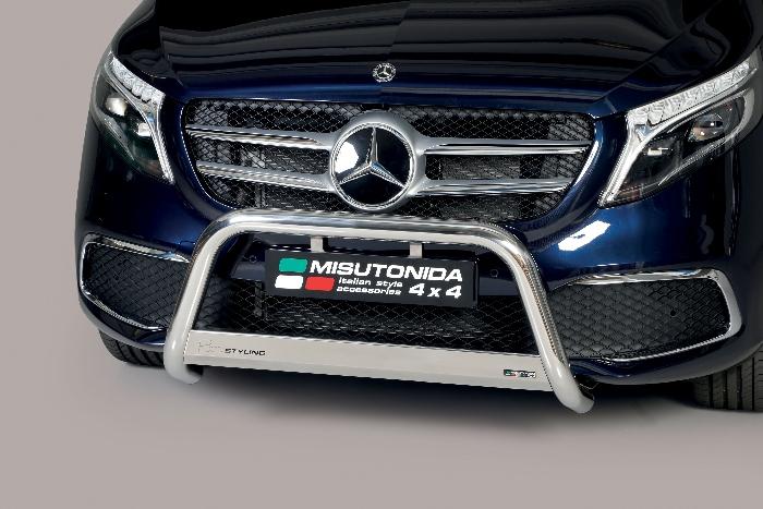 Frontschutzbügel Kuhfänger Bullfänger Mercedes V-Klasse 2021-, Medium Bar 63mm Edelstahl Omologato Inox