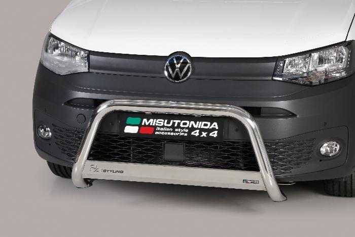 Frontschutzbügel Kuhfänger Bullfänger VW Caddy 2020-, Medium Bar 63mm Edelstahl Omologato Inox