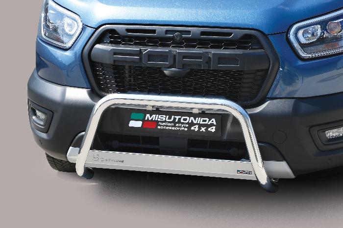 Frontschutzbügel Kuhfänger Bullfänger Ford Transit Trail 2020-, Medium Bar 63mm Edelstahl Omologato Inox