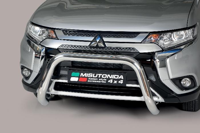 Frontschutzbügel Kuhfänger Bullfänger Mitsubishi Outlander 2020-, Super Bar 76mm Edelstahl Omologato Inox