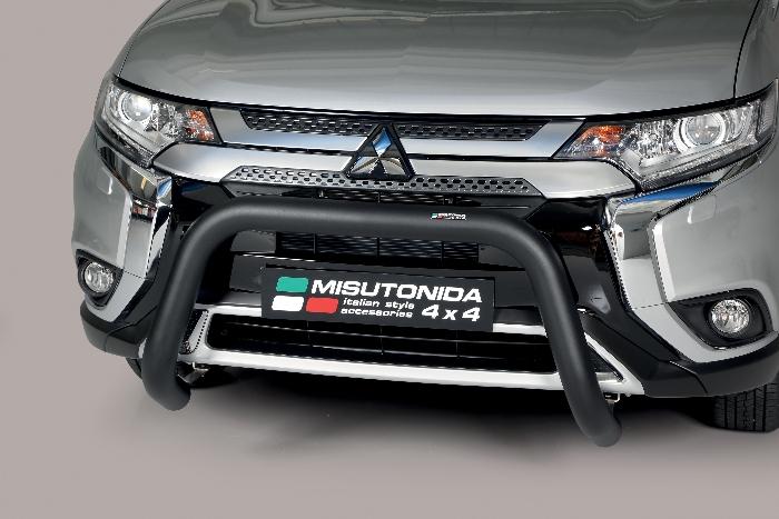 Frontschutzbügel Kuhfänger Bullfänger Mitsubishi Outlander 2020-, Super Bar 76mm schwarz pulverbeschichtet