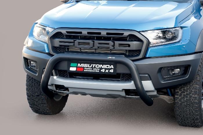 Frontschutzbügel Kuhfänger Bullfänger Ford Ranger Raptor 2019-, Super Bar 76mm schwarz pulverbeschichtet