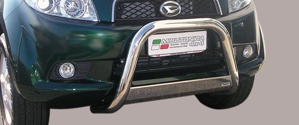 Frontschutzbügel Kuhfänger Bullfänger Daihatsu Terios CX 2006-2009, Medium Bar 63mm Edelstahl Omologato Inox