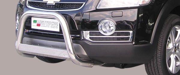 Frontschutzbügel Kuhfänger Bullfänger Chevrolet Captiva 2006-2010, Medium Bar 63mm Edelstahl Omologato Inox
