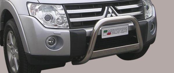 Frontschutzbügel Kuhfänger Bullfänger Mitsubishi Pajero 3-türig 2007-2012, Medium Bar 63mm Edelstahl Omologato Inox