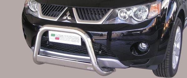 Frontschutzbügel Kuhfänger Bullfänger Mitsubishi Outlander 2007-2009, Medium Bar 63mm Edelstahl Omologato Inox