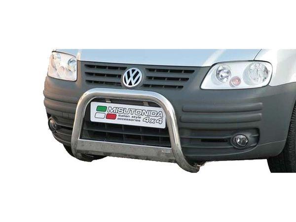 Frontschutzbügel Kuhfänger Bullfänger VW Caddy 2004-2010, Medium Bar 63mm Edelstahl Omologato Inox