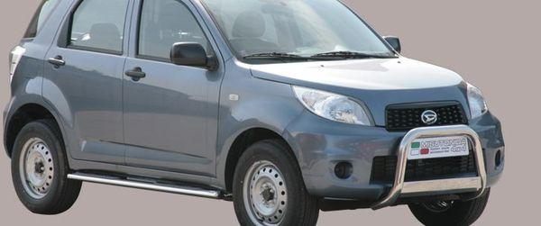 Frontschutzbügel Kuhfänger Bullfänger Daihatsu Terios CX 2009-, Medium Bar 63mm Edelstahl Omologato Inox
