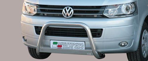 Frontschutzbügel Kuhfänger Bullfänger VW Transporter T5 2010-2015, - nicht für Fahrzeuge mit 180 PS - Medium Bar 63mm Edelstahl Omologato Inox