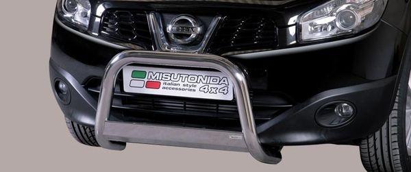 Frontschutzbügel Kuhfänger Bullfänger Nissan Qashqai 2010-2013, Medium Bar 63mm Edelstahl Omologato Inox