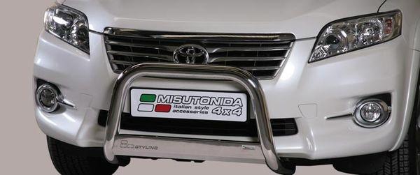 Frontschutzbügel Kuhfänger Bullfänger Toyota RAV4 2010-2013, Medium Bar 63mm Edelstahl Omologato Inox