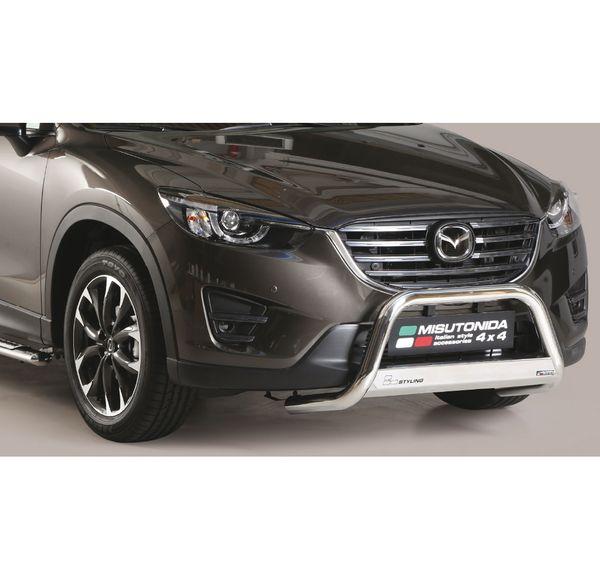 Frontschutzbügel Kuhfänger Bullfänger Mazda CX-5 2015-2016, Medium Bar 63mm Edelstahl Omologato Inox