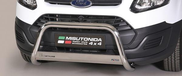 Frontschutzbügel Kuhfänger Bullfänger Ford Transit Custom 2013-2018, Medium Bar 63mm Edelstahl Omologato Inox