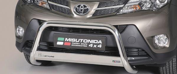 Frontschutzbügel Kuhfänger Bullfänger Toyota RAV4 2013-2015, Medium Bar 63mm Edelstahl Omologato Inox