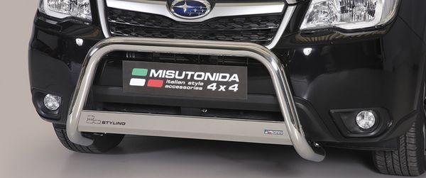 Frontschutzbügel Kuhfänger Bullfänger Subaru Forester 2013-, Medium Bar 63mm Edelstahl Omologato Inox