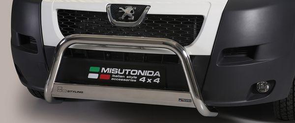 Frontschutzbügel Kuhfänger Bullfänger Peugeot Boxer 2006-2014, Medium Bar 63mm Edelstahl Omologato Inox