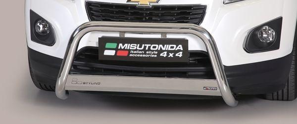 Frontschutzbügel Kuhfänger Bullfänger Chevrolet Trax 2013-, Medium Bar 63mm Edelstahl Omologato Inox