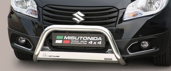 Frontschutzbügel Kuhfänger Bullfänger Suzuki SX4 S-Cross 2013-2016, Medium Bar 63mm Edelstahl Omologato Inox