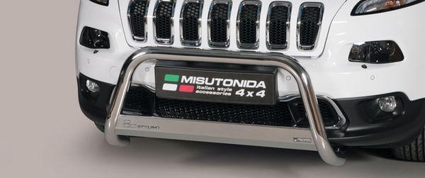 Frontschutzbügel Kuhfänger Bullfänger Jeep Cherokee 2014-, Medium Bar 63mm Edelstahl Omologato Inox