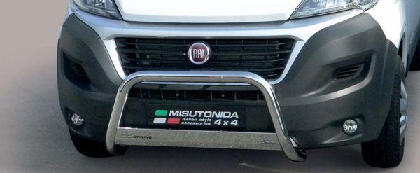 Frontschutzbügel Kuhfänger Bullfänger Fiat Ducato 2014-2016, Medium Bar 63mm Edelstahl Omologato Inox