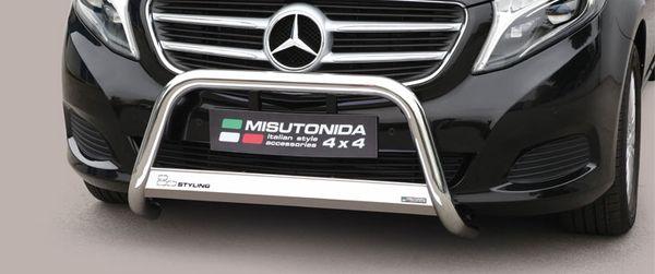 Frontschutzbügel Kuhfänger Bullfänger Mercedes V-Klasse 2014-, Medium Bar 63mm Edelstahl Omologato Inox