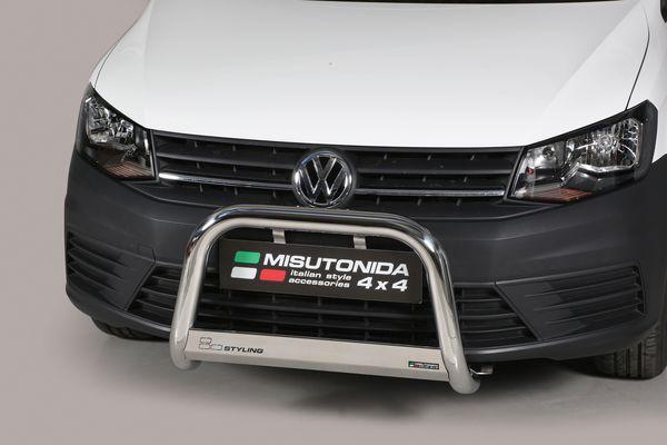 Frontschutzbügel Kuhfänger Bullfänger VW Caddy 4x4 2015-, Medium Bar 63mm Edelstahl Omologato Inox