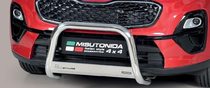 Frontschutzbügel Kuhfänger Bullfänger Kia Sportage 2018-, Medium Bar Mark 63mm Edelstahl Omologato Inox
