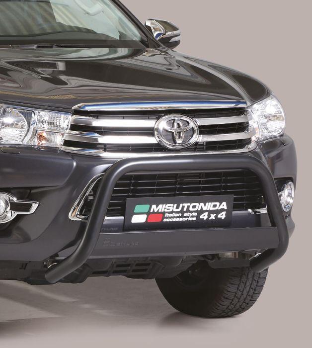 Frontschutzbügel Kuhfänger Bullfänger Toyota Hi-Lux 2015-2018, Medium Bar 63mm schwarz pulverbeschichtet