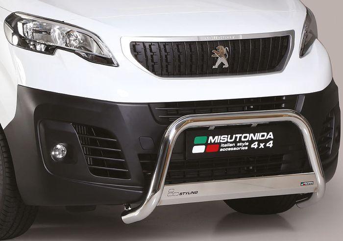 Frontschutzbügel Kuhfänger Bullfänger Peugeot Expert Traveller 2016-, Medium Bar 63mm Edelstahl Omologato Inox