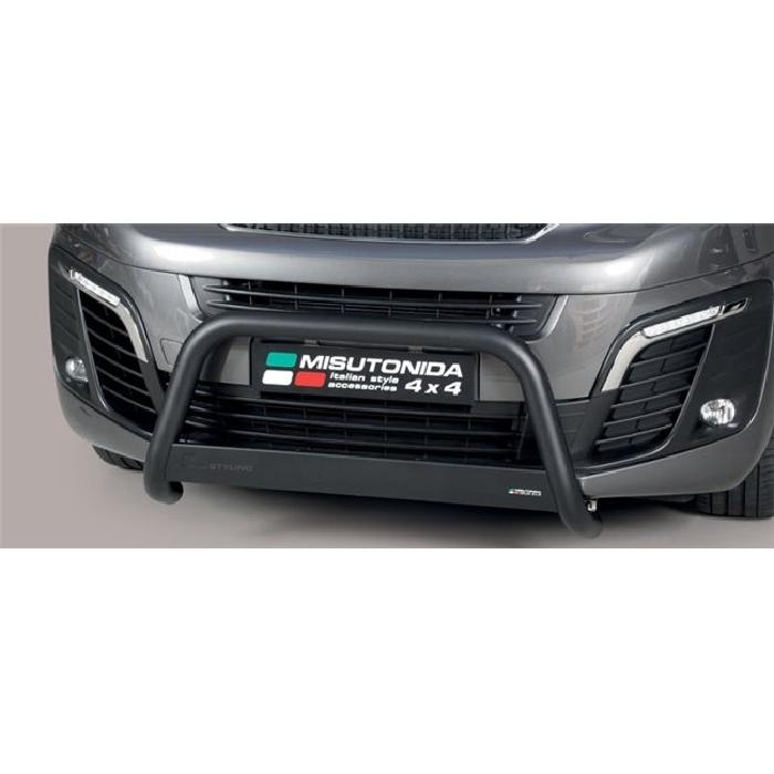 Frontschutzbügel Kuhfänger Bullfänger Peugeot Expert 2016-, Medium Bar 63mm schwarz pulverbeschichtet
