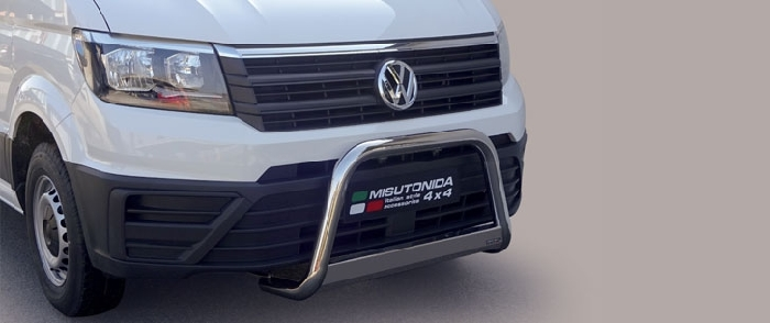 Frontschutzbügel Kuhfänger Bullfänger VW Crafter 2017-, Medium Bar 63mm Edelstahl Omologato Inox