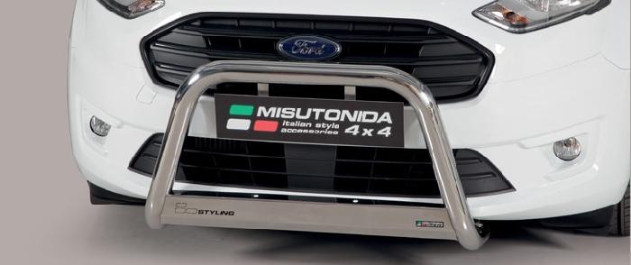 Frontschutzbügel Kuhfänger Bullfänger Ford Transit Connect 2018-, Medium Bar 63mm Edelstahl Omologato Inox