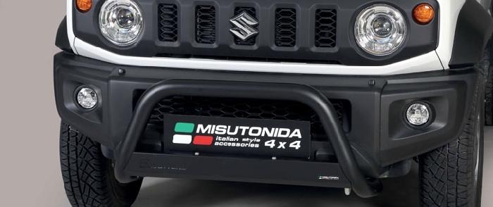 Frontschutzbügel Kuhfänger Bullfänger Suzuki Jimny 2018-, Medium Bar 63mm schwarz pulverbeschichtet