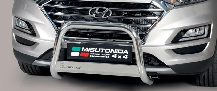Frontschutzbügel Kuhfänger Bullfänger Hyundai Tucson 2018-, Medium Bar 63mm Edelstahl Omologato Inox