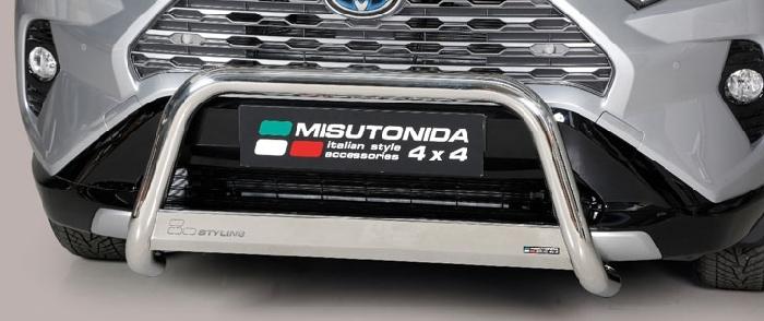 Frontschutzbügel Kuhfänger Bullfänger Toyota RAV4 Hybrid 2019-, Medium Bar 63mm Edelstahl Omologato Inox
