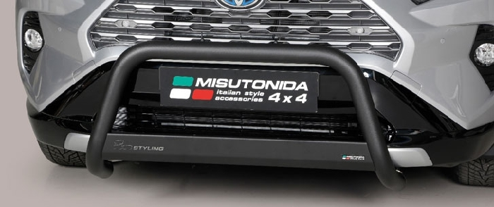 Frontschutzbügel Kuhfänger Bullfänger Toyota RAV4 Hybrid 2019-, Medium Bar 63mm schwarz pulverbeschichtet