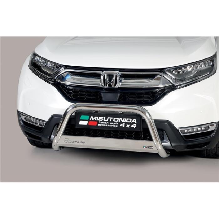 Frontschutzbügel Kuhfänger Bullfänger Honda CR-V Hybrid 2019-, Medium Bar Mark 63mm Edelstahl Omologato Inox