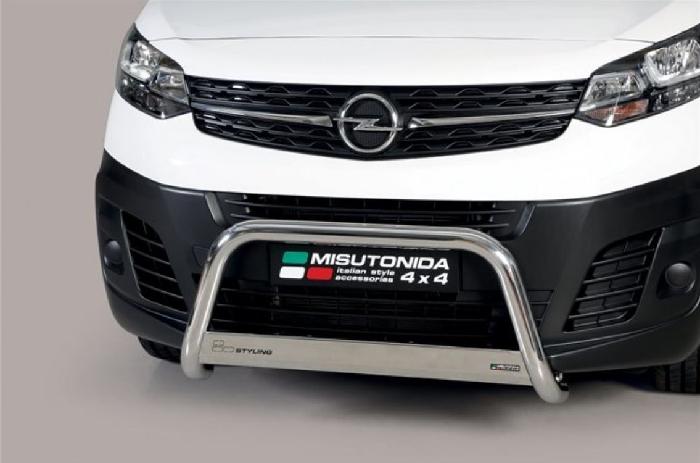 Frontschutzbügel Kuhfänger Bullfänger Opel Vivaro 2019-, Medium Bar 63mm Edelstahl Omologato Inox