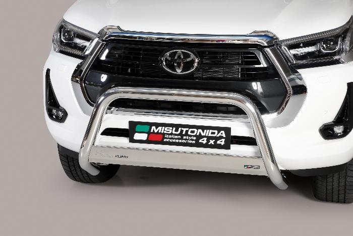 Frontschutzbügel Kuhfänger Bullfänger Toyota Hi-Lux 2020-, Medium Bar Mark 63mm Edelstahl Omologato Inox