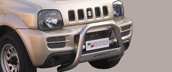 Frontschutzbügel Kuhfänger Bullfänger Suzuki Jimny 2006-2012, Medium Bar Mark 63mm Edelstahl Omologato Inox