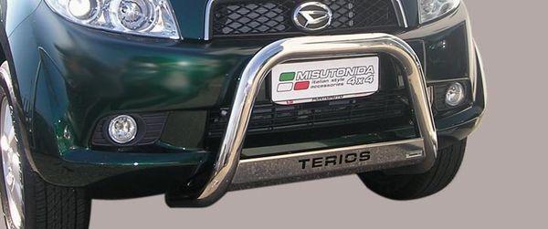 Frontschutzbügel Kuhfänger Bullfänger Daihatsu Terios Overfender 2006-2009, Medium Bar Mark 63mm Edelstahl Omologato Inox
