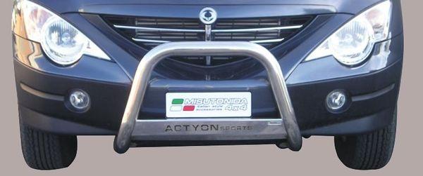 Frontschutzbügel Kuhfänger Bullfänger Ssang Yong Actyon Sport 2007-2012, Medium Bar Mark 63mm Edelstahl Omologato Inox
