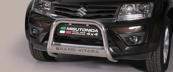 Frontschutzbügel Kuhfänger Bullfänger Suzuki Grand Vitara 2009-2012, Medium Bar Mark 63mm Edelstahl Omologato Inox