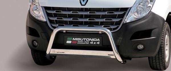 Frontschutzbügel Kuhfänger Bullfänger Renault Master 2010-2019, Medium Bar Mark 63mm Edelstahl Omologato Inox