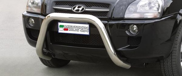 Frontschutzbügel Kuhfänger Bullfänger Hyundai Tucson 2004-2010, Super Bar 76mm Edelstahl Omologato Inox