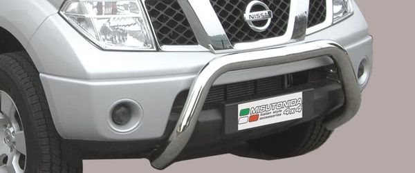 Frontschutzbügel Kuhfänger Bullfänger Nissan Navara King Cab 2005-, Super Bar 76mm Edelstahl Omologato Inox